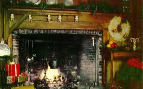 christmas tree fireplace holiday wallpaper 230021