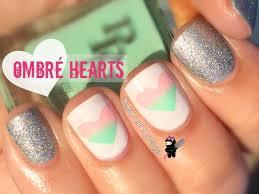 valentine u0027s ombre heart nails the crafty ninja