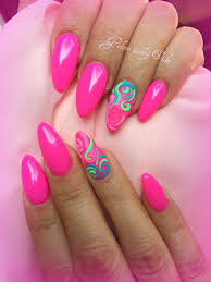 definitely summer pink nails for your holidays great with a