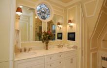 Oak Framed Bathroom Mirrors Glamorous Bathroom Wall Mirror With Brown Stained Oak Wood Frame
