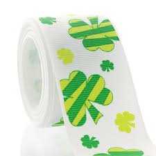 shamrock ribbon 1 5 lucky shamrock grosgrain ribbon