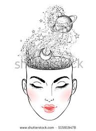 face space inside her head stock vector 515919478 shutterstock