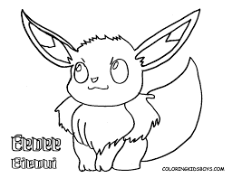 pokemon eevee coloring page free download