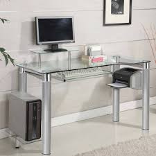 Glass Office Desks Office Desk Officeworks Desk L Shaped Glass Desk Glass Office