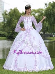 unique quinceanera dresses bateau sleeves gown white taffeta quinceanera dress with