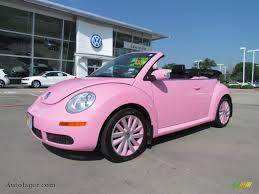 volkswagen beetle convertible pink