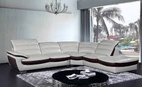 Contemporary White Leather Sectional Sofa by Modern White Eco Leather Sectional Sofa Vg468 Leather Sectionals