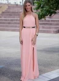 light pink halter dress halter maxi dress pink naf dresses