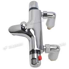 boxcute tap bathroom thermostatic chrome desk mounted shower valve modern thermostatic bath shower mixer taps deck mounted chrome bathroom and kit