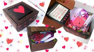 Homemade Valentines Gifts For Him by Diy Cute Valentine U0027s Day Box Idea For Him U0026 Her Youtube