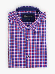 Gingham Vs Plaid Vs Tartan Blue U0026 Red Gingham Check Shirt Brumano