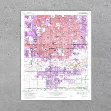 Map Phoenix Az by Phoenix Az 1952 Usgs Map