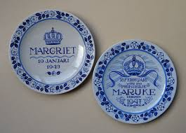 birth plates goedewaagen gouda jaap gidding 2 wall plates royal family birth