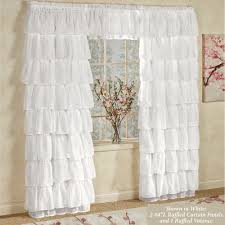 Voiles For Patio Doors by Gypsy Sheer Voile Ruffled Window Treatment