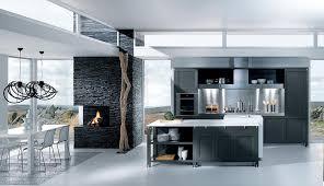 cuisine gris foncé cuisine grise décoration
