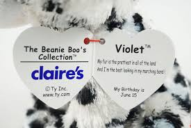claire u0027s exclusive leopard violet beanie boo collection website