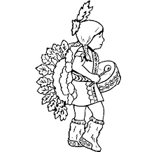 indian with drum coloring page coloringcrew com