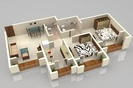 House Plan 3d 28 Floor Plan 3d Apartment Designs Shown With Rendered 3d