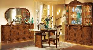 Royal Dining Room by Walnut Lacquer Finish Royal Classic Dining Room W Floral Inlaids