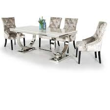 marble and stainless steel dining table ariana marble stainless steel dining table 200cm nicholas john