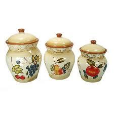 Walmart Kitchen Canister Sets D Lusso Designs Ceramic Fruit 3 Kitchen Canister Set