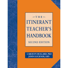 the itinerant teacher u0027s handbook second edition by carolyn bullard