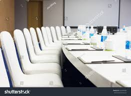 Large Oval Boardroom Table Big Oval Meeting Table White Board Stock Photo 355347458