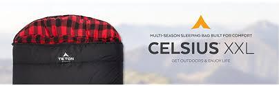 Coleman Multi Comfort Sleeping Bag Amazon Com Teton Sports Celsius Xxl 18c 0f Sleeping Bag 0