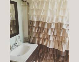 Ruffled Shower Curtains Ruffle Shower Curtain Etsy