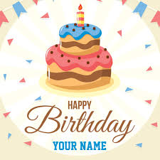 beautiful birthday wishes designer card with your name hbd