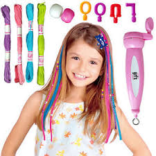 hair beader fashion girl magic hair beader braider craft beading set
