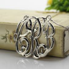 3 Initial Monogram Necklace Sterling Silver Online Get Cheap Personalized Monogram Necklace Aliexpress Com