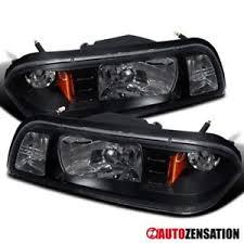 ebay mustang headlights 87 93 ford mustang black 1pc headlights corner signal parking