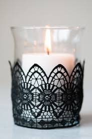 halloween candels diy black lace candle holders the sweetest occasion