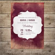 Wedding Invitations Indian Red And Peach Cream Indian Wedding Invitation By Soumya U0027s