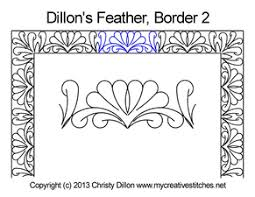 dillons floral dillon s feather pantograph my creative stitches