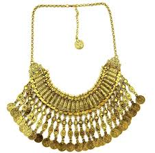 gold statement collar necklace images New vintage american brand silver vintage gold round zinc zamac jpg