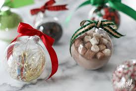 holiday gifting with clear glass ornaments inspired by charm
