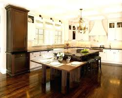 island table with storage kitchen island with built in table for exquisite diy dining attached