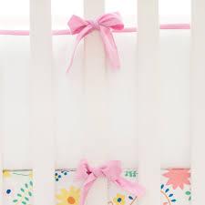 pink and white crib bumper bright pink crib bumper crib