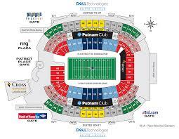 Fenway Park Seating Map Gillette Stadium New England Patriots Football Stadium Stadiums