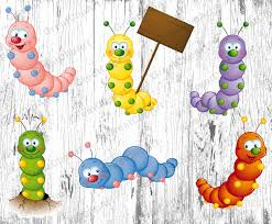 6 insects kids animals clipart worm clipart caterpillar