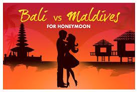for honeymoon bali vs maldives for honeymoon infographic
