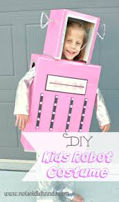Kids Robot Halloween Costume Diy Pink Robot Costume Boy