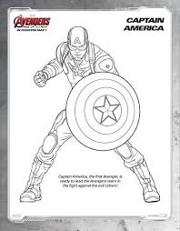 Free Avengers Age Of Ultron Printable Coloring Sheets Captain America Coloring Page