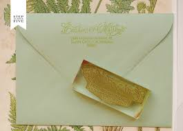 diy tutorial vintage fern wedding invitations