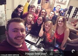 conor tiley and connor williams pictured celebrating new year 2016