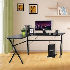 Room Desk Ideas Room Simple And Modern L Shape Corner Desk And Chair Set