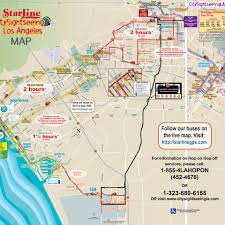 Map Of City Of Los Angeles by Hop On Hop Off Double Decker City Tour 24 Hours Starline Tour