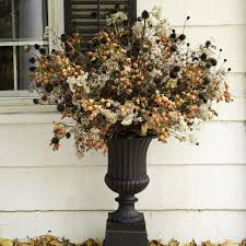 halloween outdoor decoration outdoor fall arrangement martha stewart